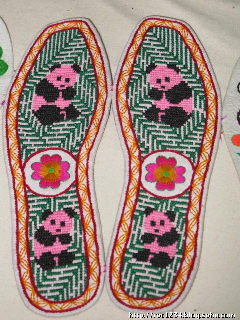 关于熊猫鞋垫图案大全
