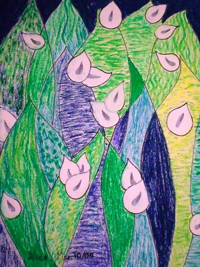 类似色的画_alice十一岁画  同类色的应用练习