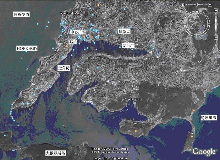 从网上下了张海参崴的地图