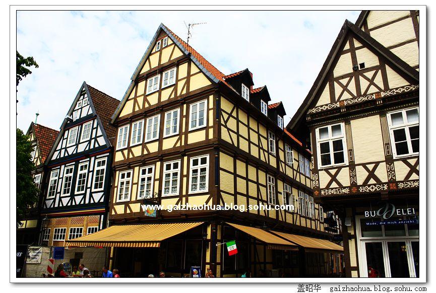 celle显然在德国的木架结构房屋之路上