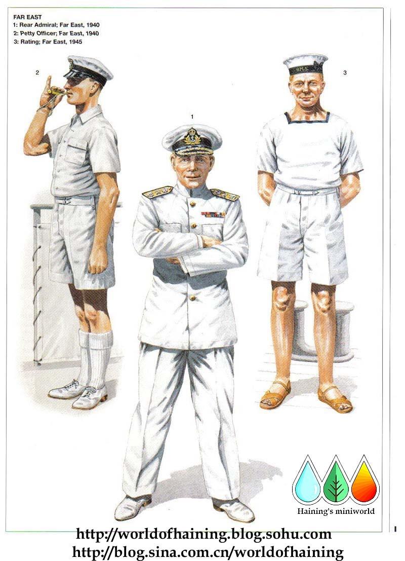 二战英国皇家海军军服图册