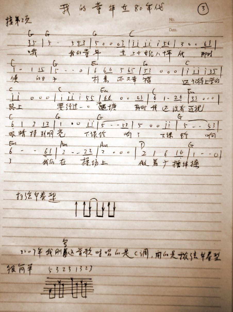 在80年代【吉他谱+mp3下载