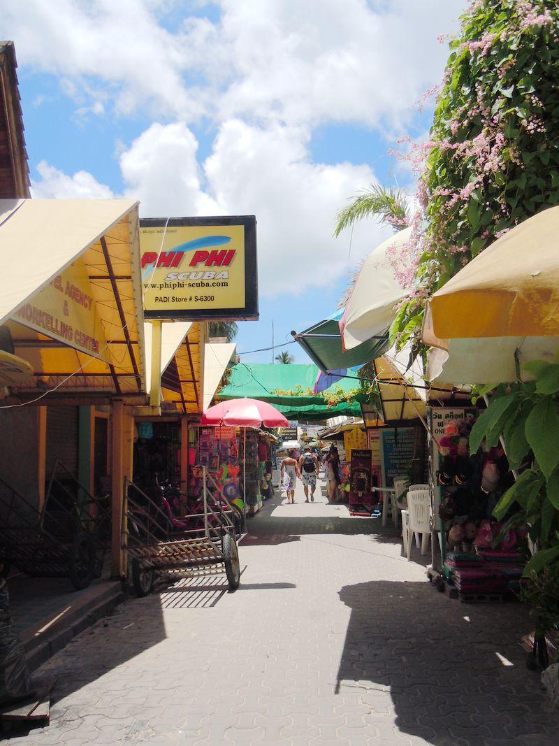 泰国普吉岛周边小岛一日游-小皮皮岛商业街