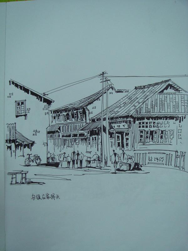 建筑速写心得1–分享一些自己钢笔画的心得-【国内