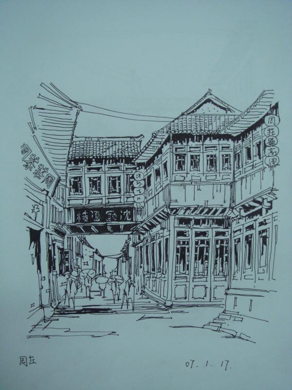 陈新生建筑手绘图
