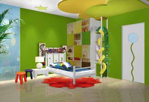 绿色壁纸装修效果图