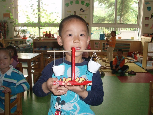 幼儿园天平秤自制图片