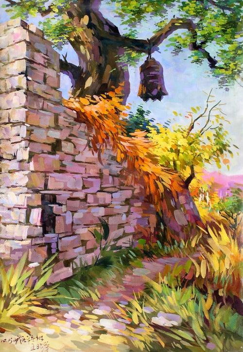 水粉风景画示范 - 水粉   世界名画苑唯美风景水粉画壁纸图高清图片