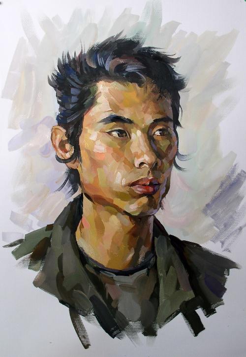 2007年水粉画头像作品