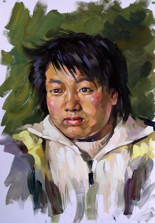 2007年水粉画头像作品-王昭举画坊-搜狐博客