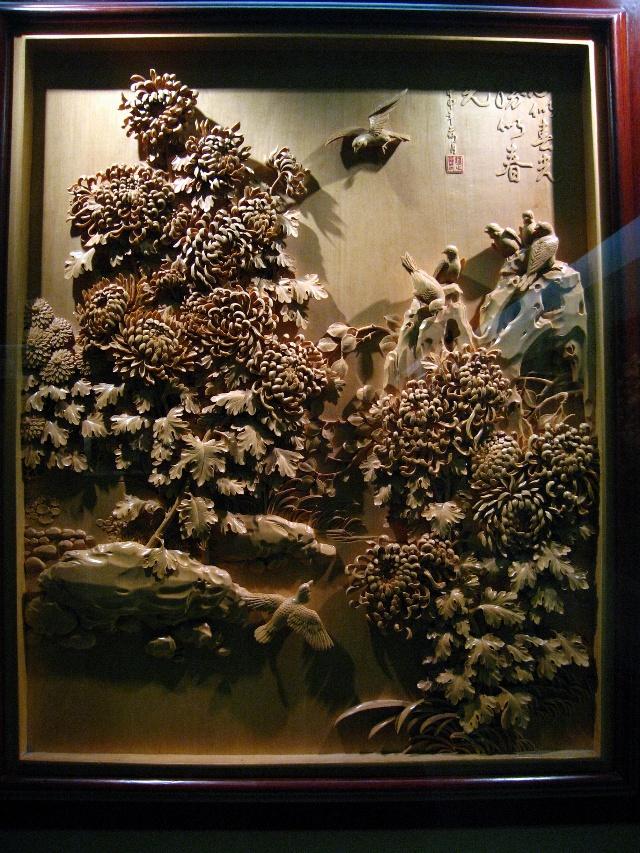 木雕壁画,图案古朴典雅;;