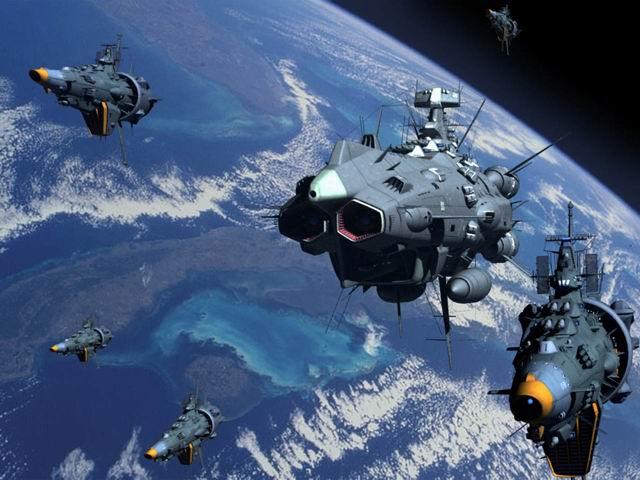 トゲトゲしている宇宙船