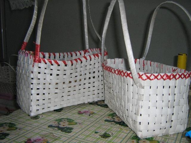 打包带编织篮子图解