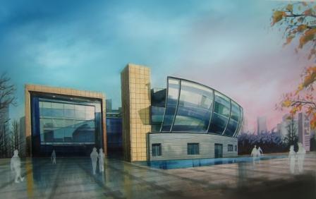 建筑渲染手绘效果图