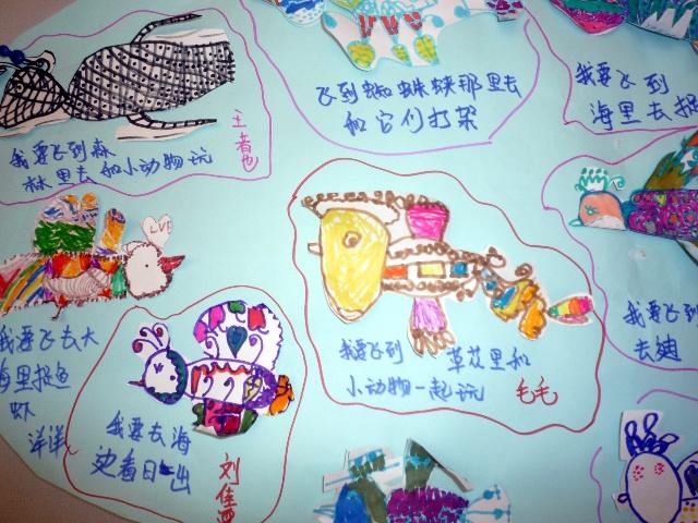 幼儿园有放风筝教室布置图