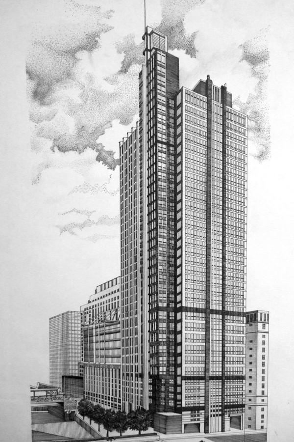 中国手绘建筑画大赛获奖作品-中国美术学院团委-搜狐