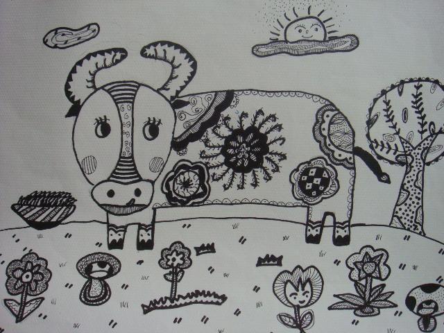 小羊简笔画图片可爱
