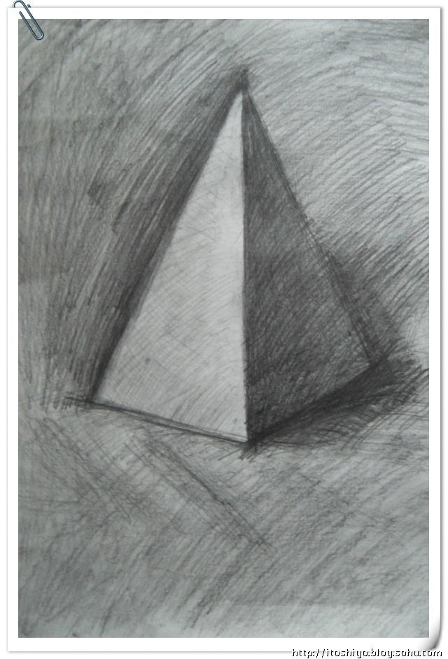 五棱锥素描步骤图