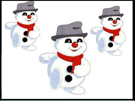 儿童画画涂色雪人