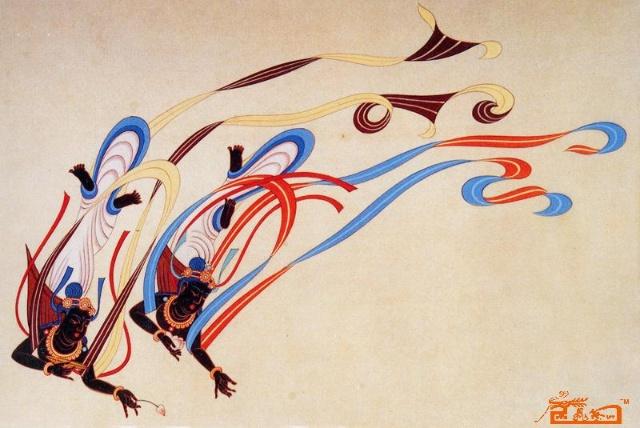 神仙驾鹤飞天图片