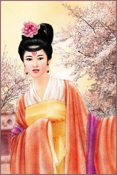 汉朝美女绘画 壁纸