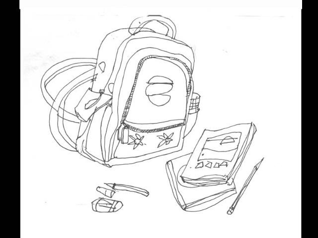 小学生书包线描画 书包线描画 小学生书包简笔画