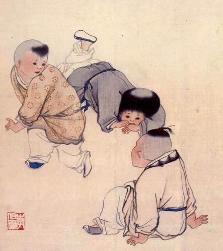 古代儿童风俗画 -铜版画爱好者-搜狐博客