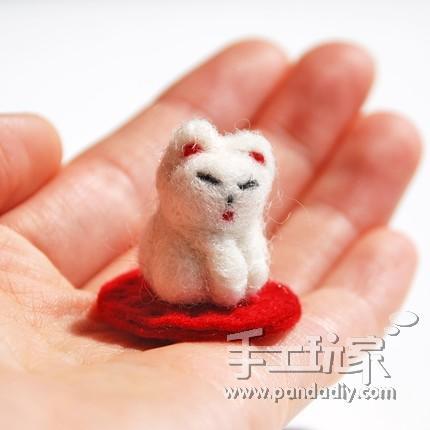 用羊毛毡制作mini小动物