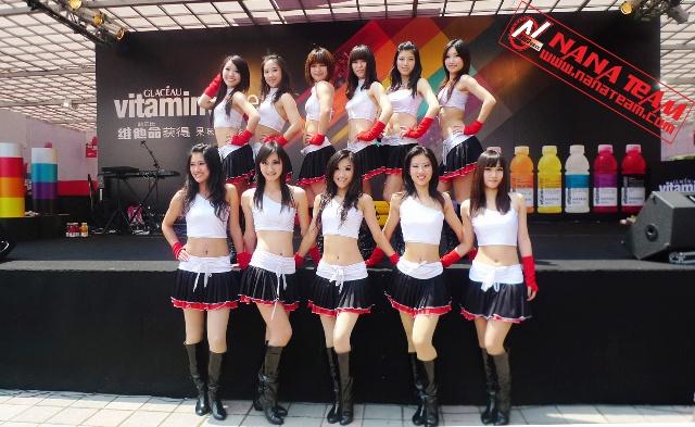 上海cba啦啦队――nanateam变身f1赛车宝贝