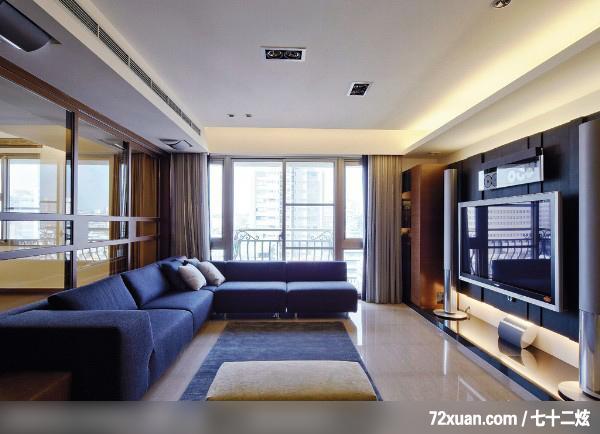 最新 客厅 电视背景墙 效果图 2010 72炫装修 网