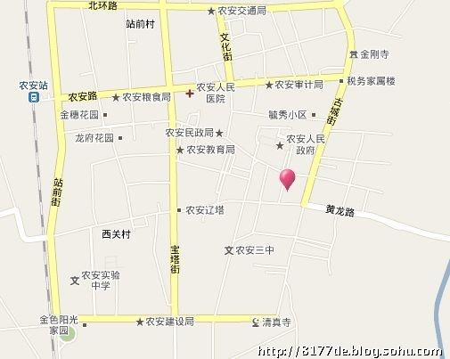 长春市农安县地图; 吉林省长岭县地图;