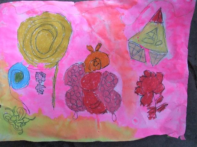 2010年7月14日上午小班作品——《简笔画—蝴蝶》