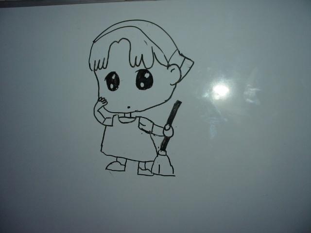 竟然画了一个十分可爱的小人物