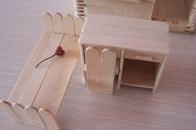 雪糕棍手工制作椅子