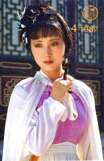 87版林黛玉-广场精华帖 赏析 红楼梦 诗词之林黛玉 葬花吟图片