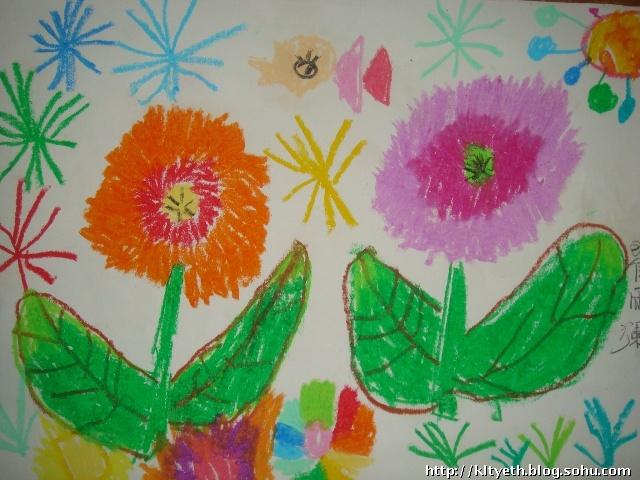 美丽的鲜花--幼儿绘画作品