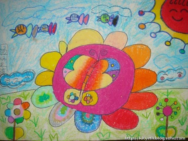 美丽的鲜花--幼儿绘画作品-快乐涂鸦儿童画-搜狐博客