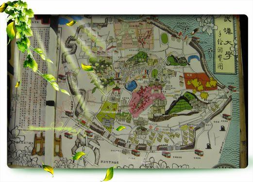 武汉大学手绘地图 武汉大学地图 武汉大学地图全图