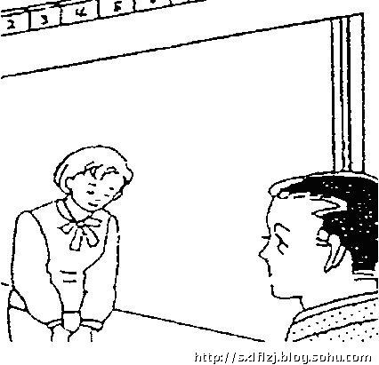 幼儿园鞠躬问好的简笔画