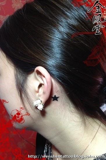 耳后纹身图 手臂象神纹身 翅膀纹身图 字母艺术刺青 手指纹身图