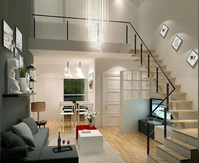 小户型复式房 楼梯精美设计图片