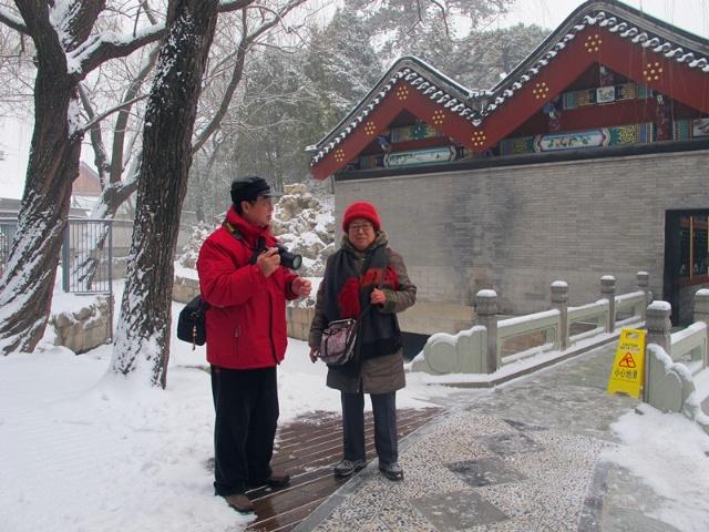 颐和园雪景照片图片