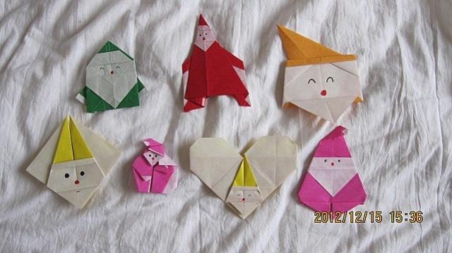 送给幼儿园的圣诞树,手工折纸圣诞老人,圣诞贺卡,圣诞