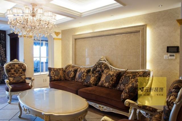 南宁泰国城实景装修案例 设计效果图 欧式风格 客厅