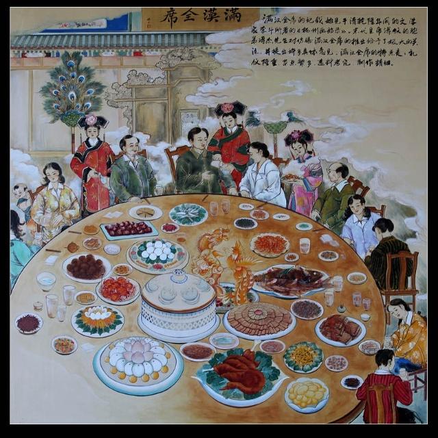 北京北海公园仿膳壁画