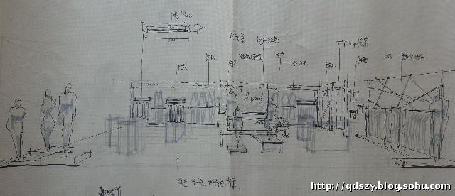 韩国服装设计师手绘袖子