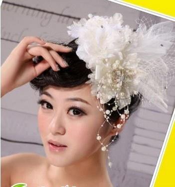 韩式新娘发型 精美新娘头花图片