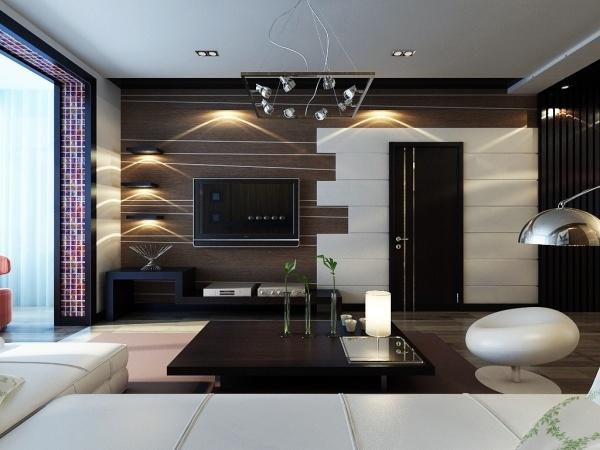 客厅电视背景墙效果图,简约电视背景墙设计