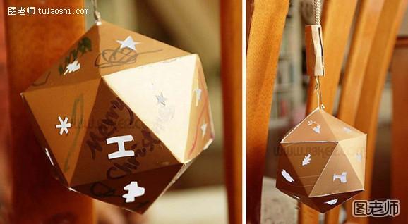 接着把正面按三角形的折法折好,还得涂上乳胶,然后用吹风机吹干迅速