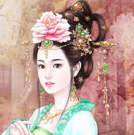 专情古代美女手绘